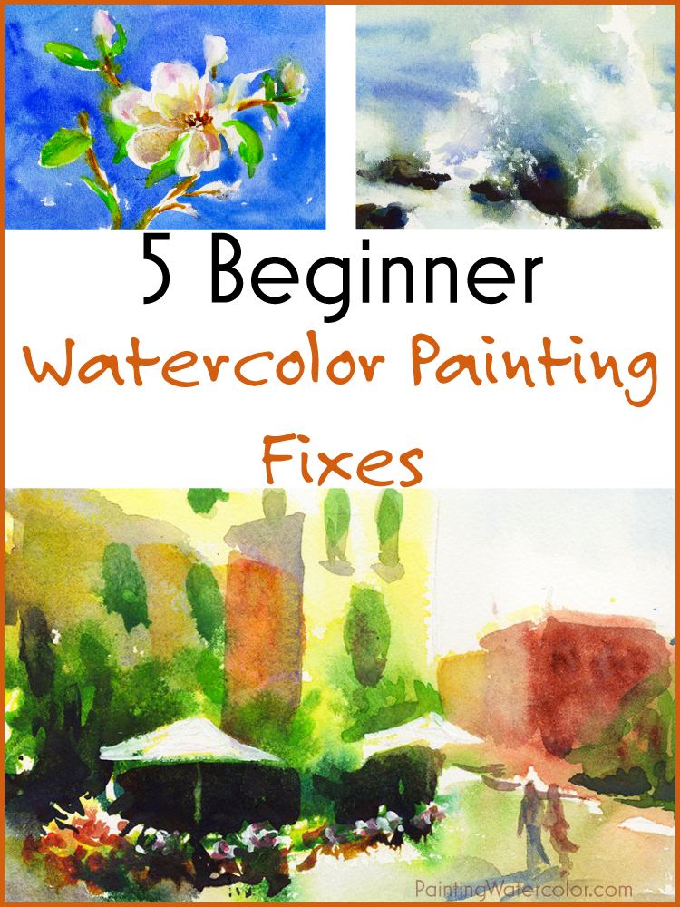 5 beginner watercolor painting fixes watercolor painting lesson by